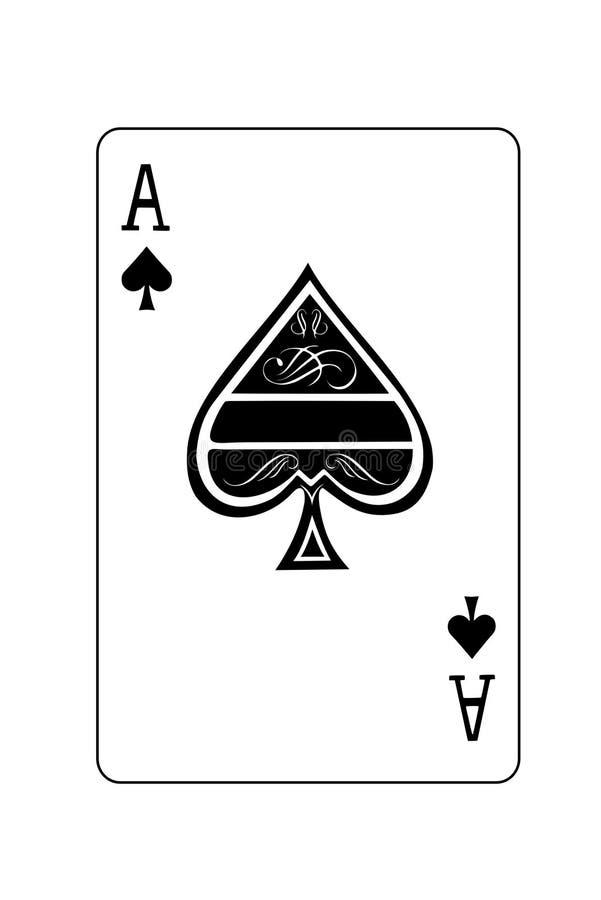 As de espadas ilustración del vector