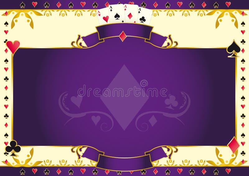 As de jeu de poker de fond horizontal de diamants illustration libre de droits