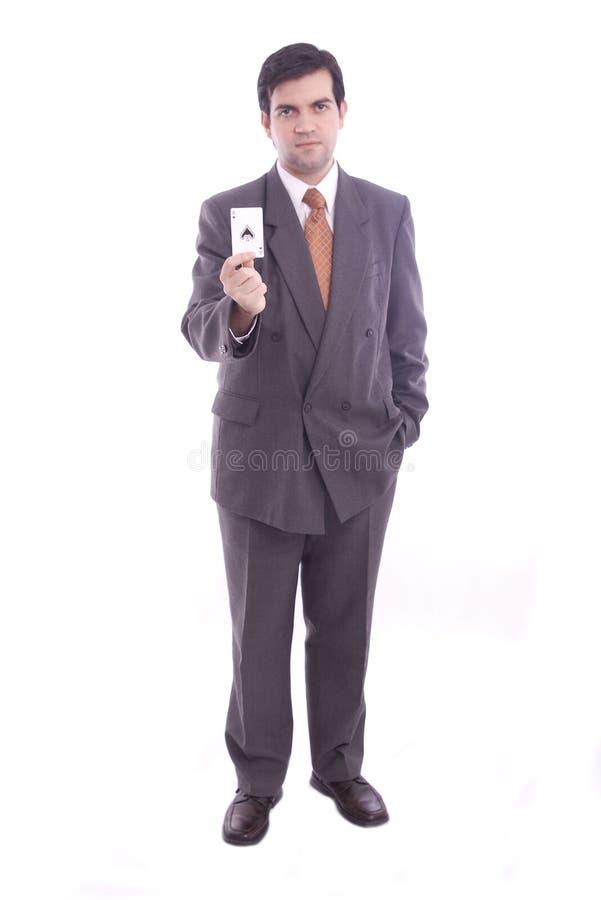 As des cosses holded par un homme d'affaires photos stock
