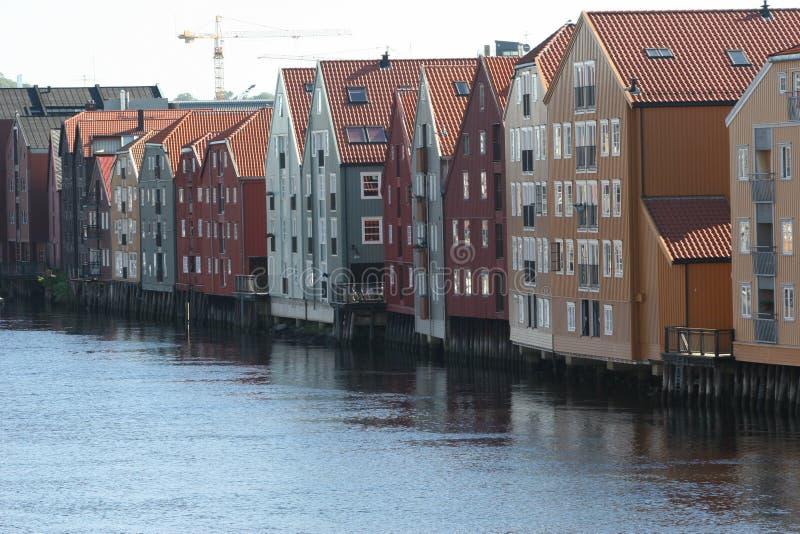 As docas de Trondheim imagens de stock