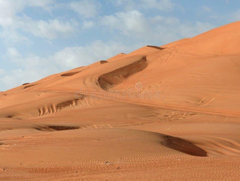As dunas de areias de Wahiba, Omã fotografia de stock