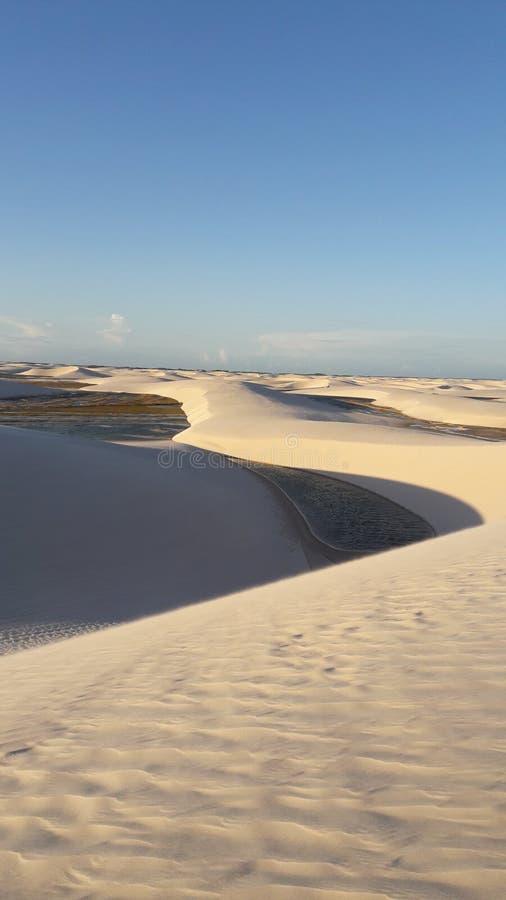 As dunas do & de x22; O ³ de Lençà é Maranhenses& x22; fotos de stock royalty free