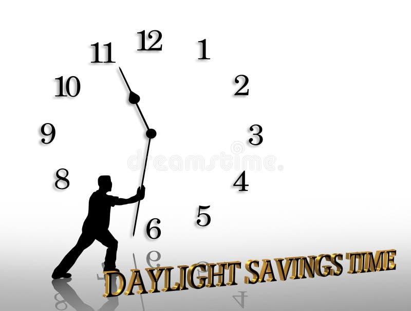 As economias de luz do dia cronometram o gráfico ilustração do vetor