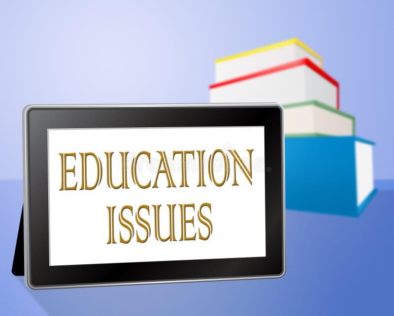As edições da educação representam a educação do treinamento e crítico ilustração stock