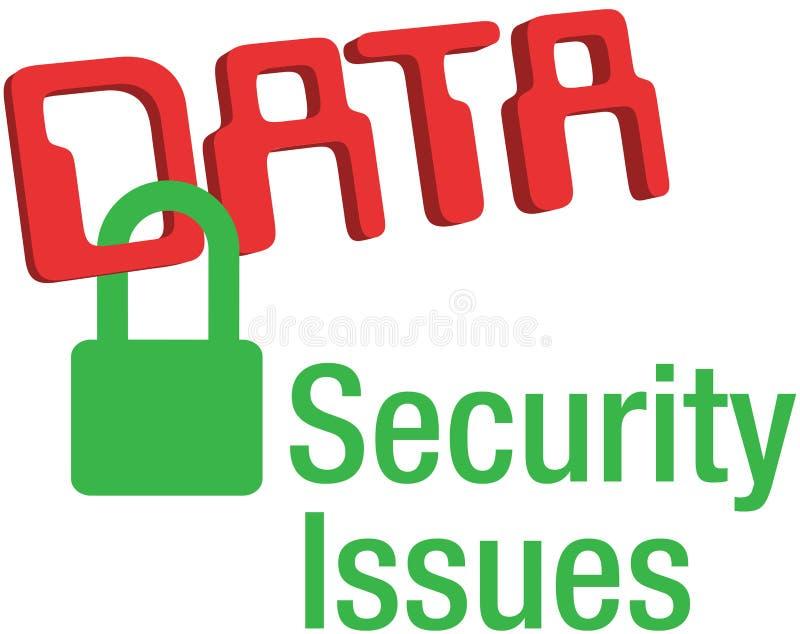 As edições de segurança dos dados fixam o fechamento ilustração stock