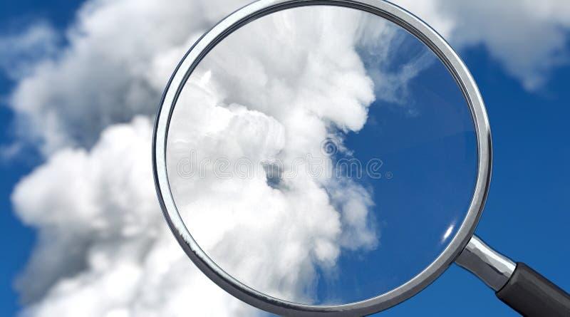 As emissões são controladas, imagem de símbolo fotografia de stock royalty free
