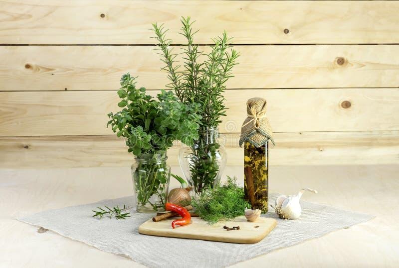 As ervas aromáticas fotografia de stock royalty free