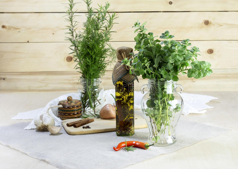 As ervas aromáticas fotos de stock royalty free