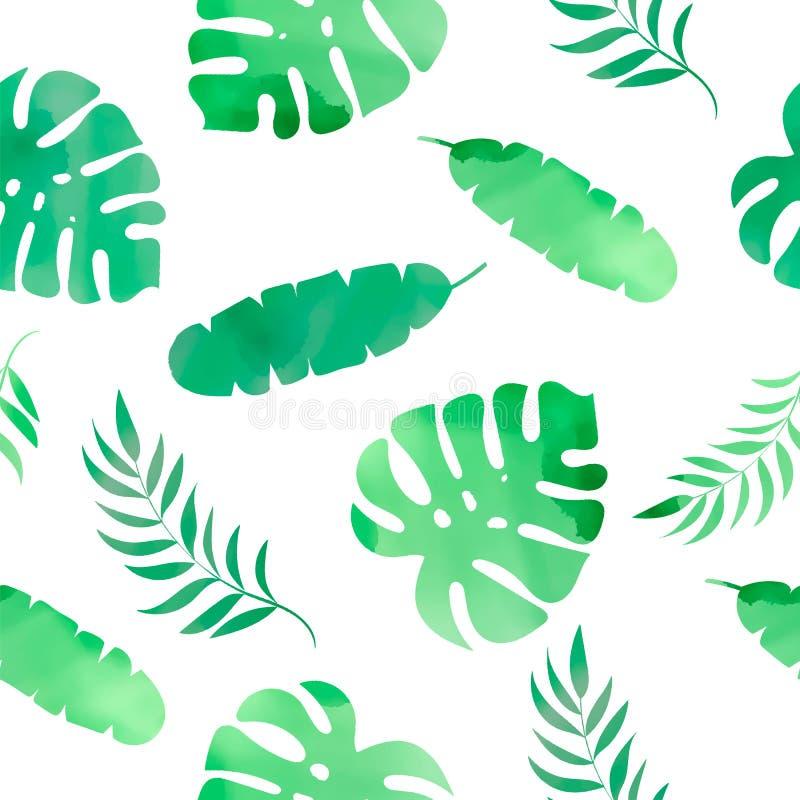 AS ERVAS TROPICAIS do teste padrão sem emenda tropical floral colorem a ilustração do vetor ilustração do vetor