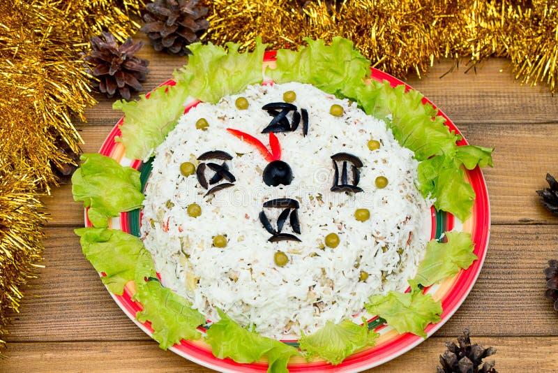As Ervilhas De Verdes Das Azeitonas Do Arroz Da Salada Do Natal