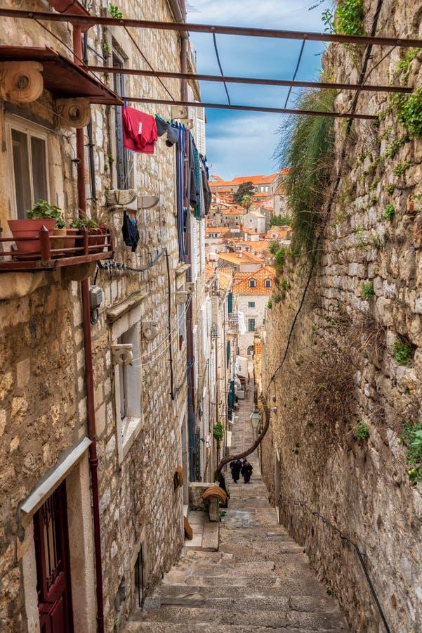 As escadarias de Dubrovnik fotografia de stock