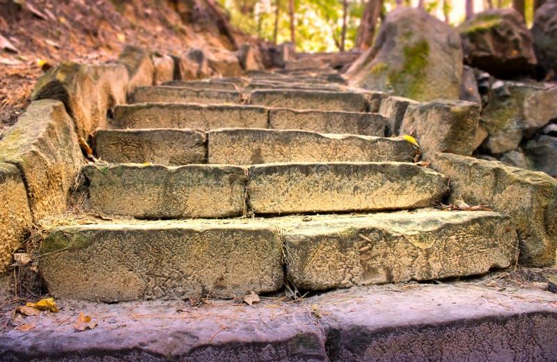 As escadas velhas imagem de stock