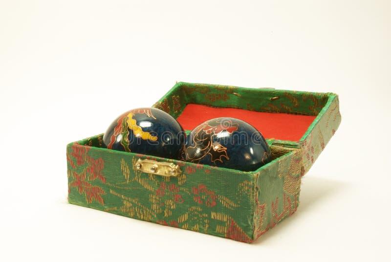 As esferas chinesas para a massagem fotos de stock