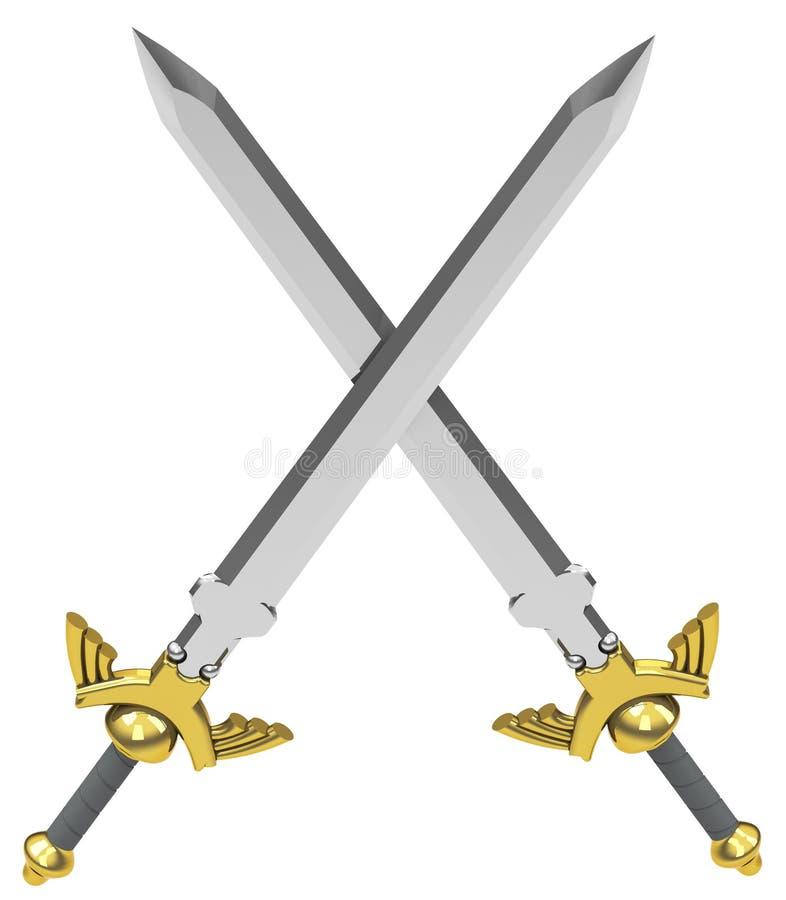 As espadas cruzadas ilustração do vetor