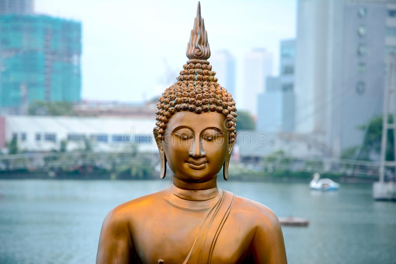 As estátuas de Seema Malakaya, Sri Lanka fotos de stock royalty free