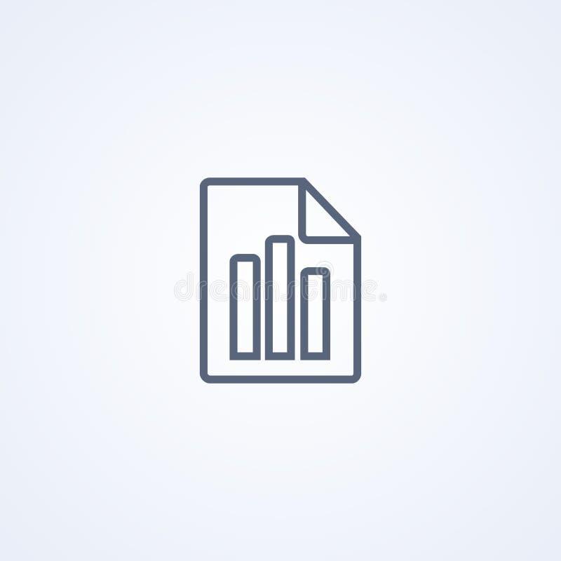 As estatísticas arquivam, a melhor linha cinzenta ícone do vetor ilustração royalty free