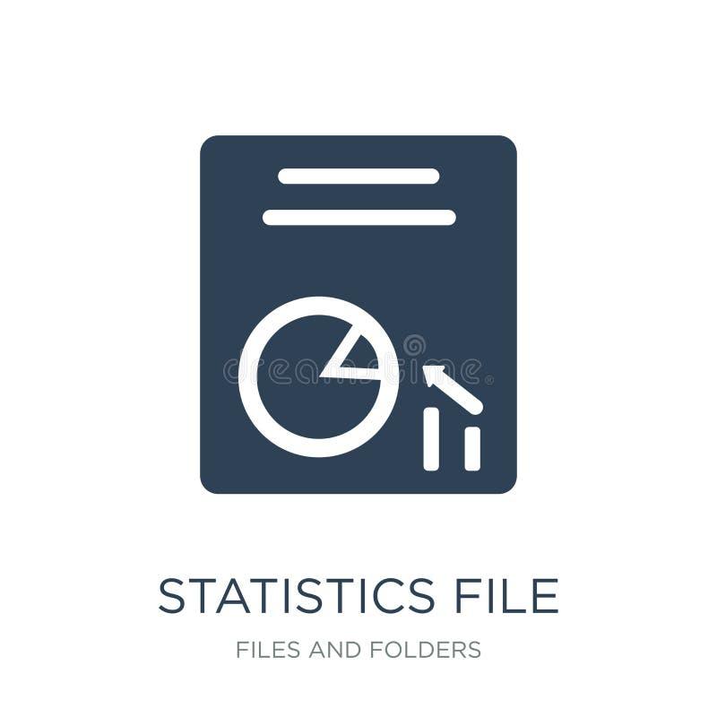 as estatísticas arquivam o ícone no estilo na moda do projeto as estatísticas arquivam o ícone isolado no fundo branco as estatís ilustração do vetor