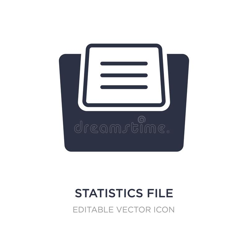 as estatísticas arquivam o ícone no fundo branco Ilustração simples do elemento dos arquivos e do conceito dos dobradores ilustração do vetor