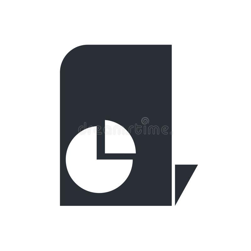As estatísticas arquivam o sinal do vetor do ícone e o símbolo isolado no fundo branco, estatísticas arquiva o conceito do logoti ilustração royalty free