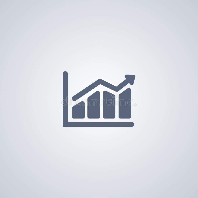 As estatísticas, carta, vector o melhor ícone liso ilustração do vetor