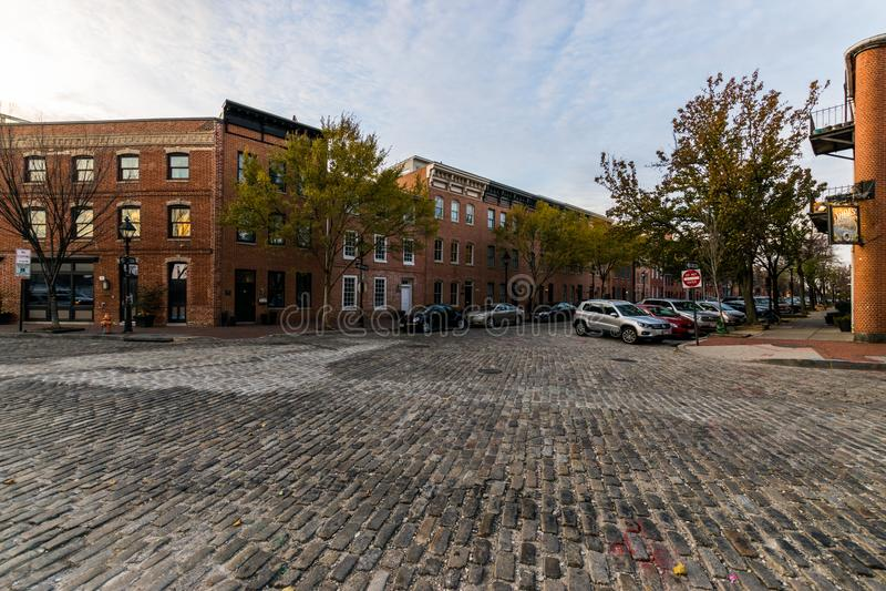 As estradas da pedra no leste histórico do centro do porto abatem o ponto, foto de stock royalty free