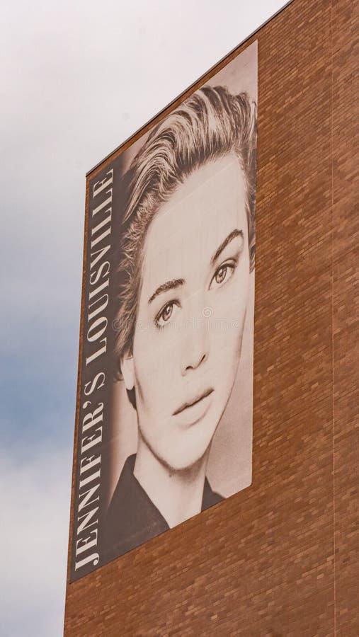 As estrelas e as celebridades de Louisville - a Jennifer Lawrence - o LOUISVILLE, EUA - 14 DE JUNHO DE 2019 fotografia de stock