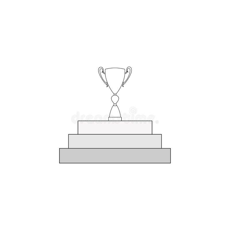 As etapas ao sucesso ou à vitória para fora alinham ilustração royalty free