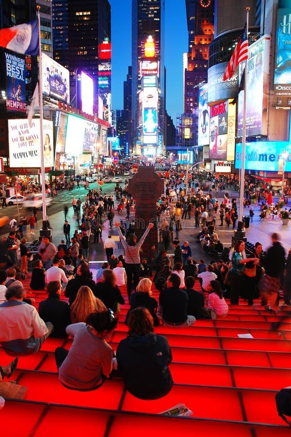 As etapas de TKTS no Times Square fotos de stock royalty free