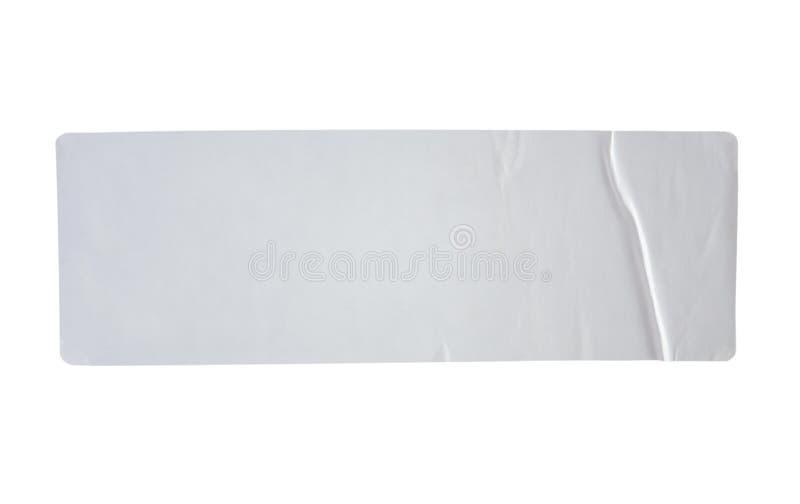 As etiquetas etiquetam com o trajeto de grampeamento isolado no branco fotos de stock