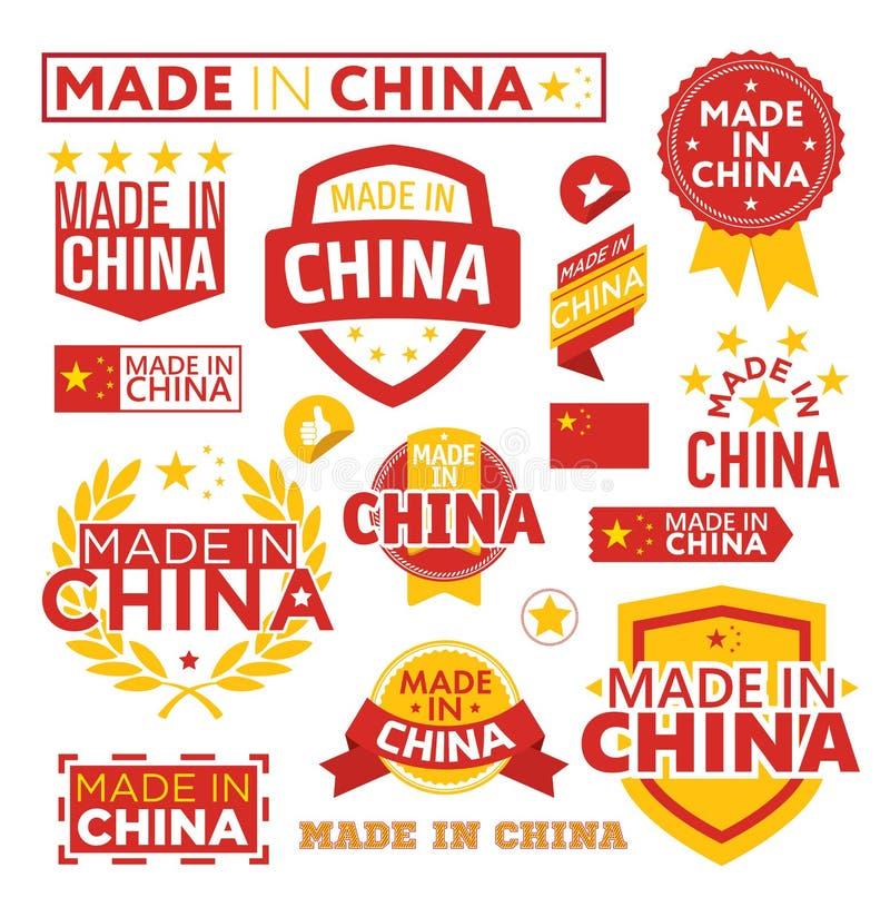 As etiquetas fizeram o ‹do †do ‹do †em China ilustração royalty free