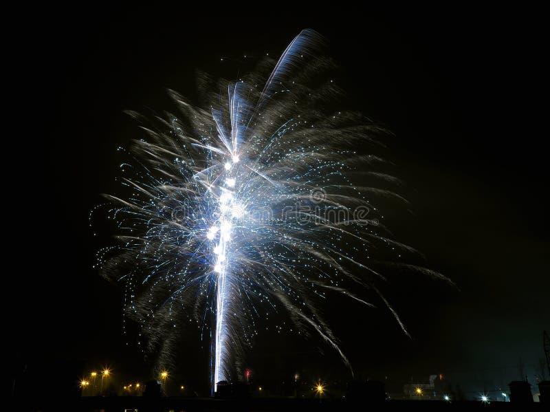 As explosões de ano novo foto de stock royalty free