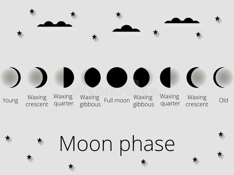 As fases da lua Ilustração do vetor ilustração royalty free