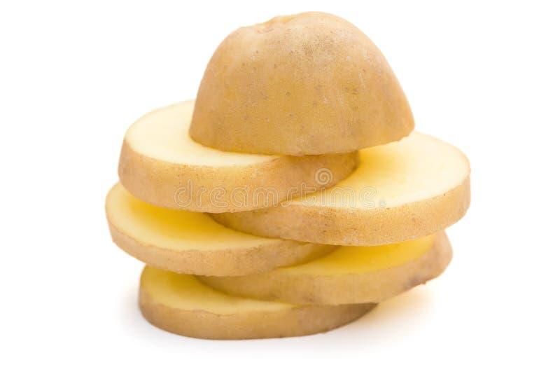 As fatias de batata empilham acima imagens de stock royalty free