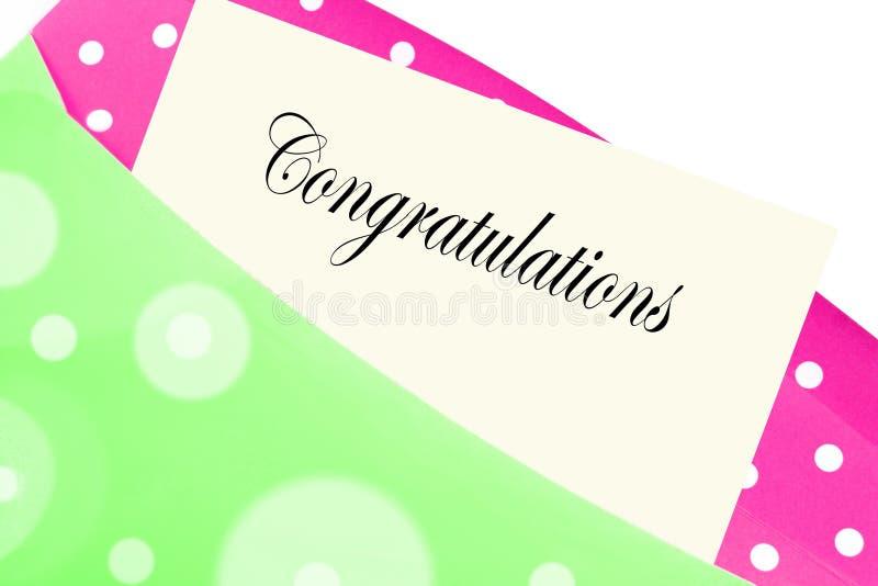 As felicitações anotam ou rotulam imagem de stock
