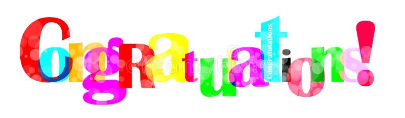 As felicitações rotulam para você o projeto ilustração stock