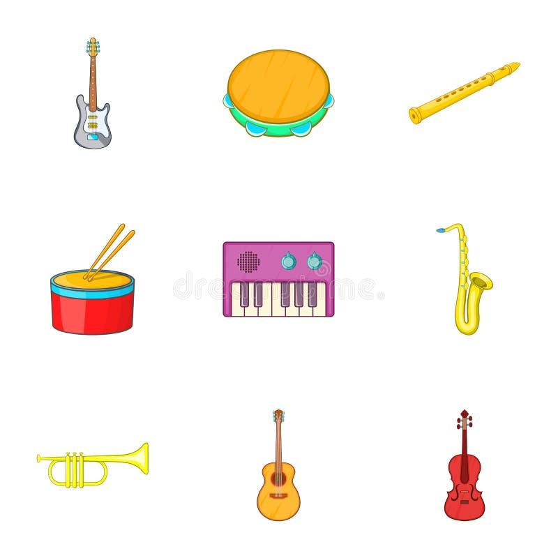 Download As Ferramentas Para ícones Da Música Ajustaram-se, Estilo Dos Desenhos Animados Ilustração do Vetor - Ilustração de ícone, imagem: 80100306