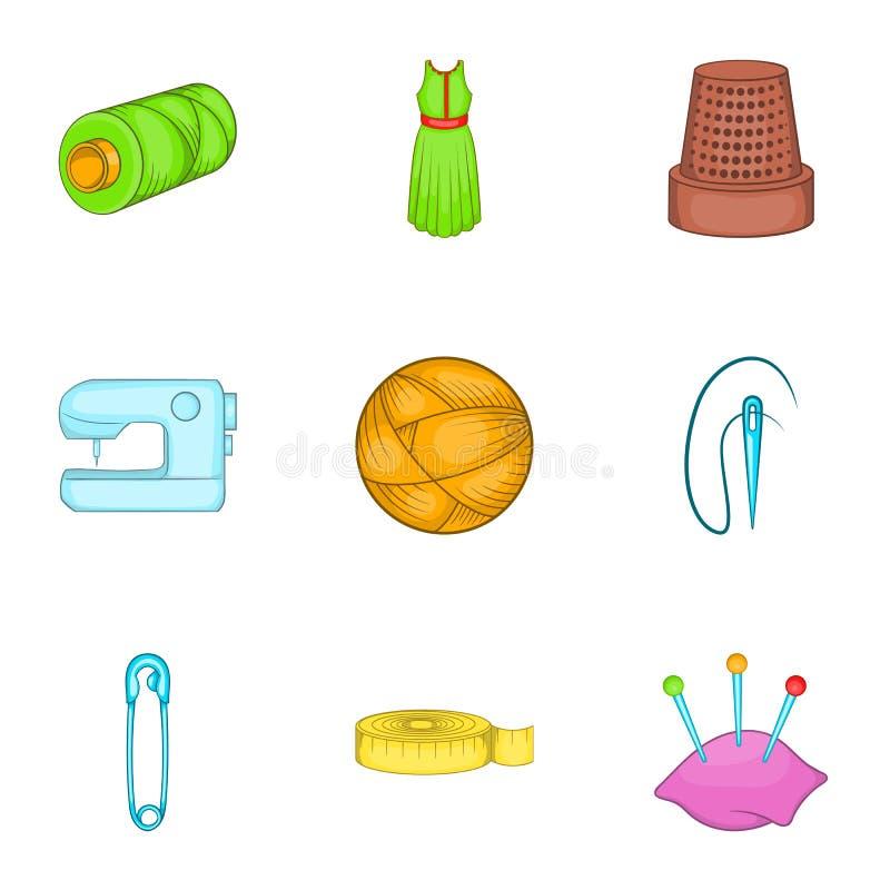Download As Ferramentas Para Costurar Vestem Os ícones Ajustados, Estilo Dos Desenhos Animados Ilustração do Vetor - Ilustração de pino, desenho: 80100806