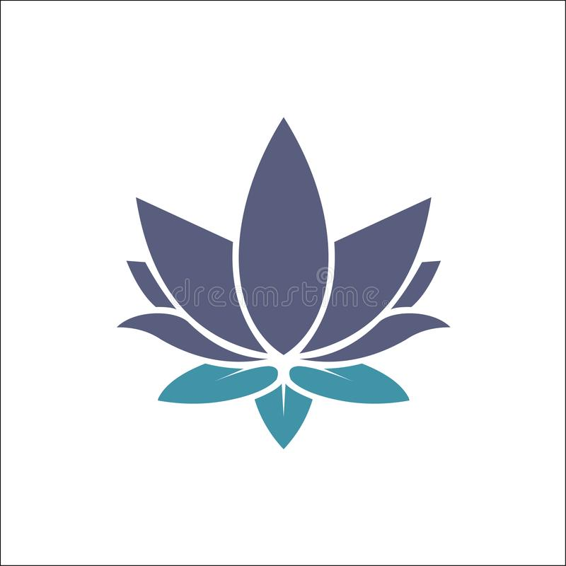 As flores de Lotus do vetor da beleza projetam o ?cone do molde do logotipo ilustração royalty free