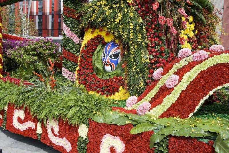 As flores decoram o flutuador fotografia de stock royalty free