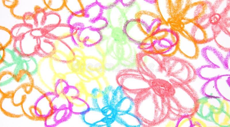 Download As flores desenhadas foto de stock. Imagem de flor, superfície - 26513046