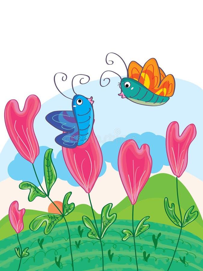 As flores do amor expressam o amor ilustração royalty free