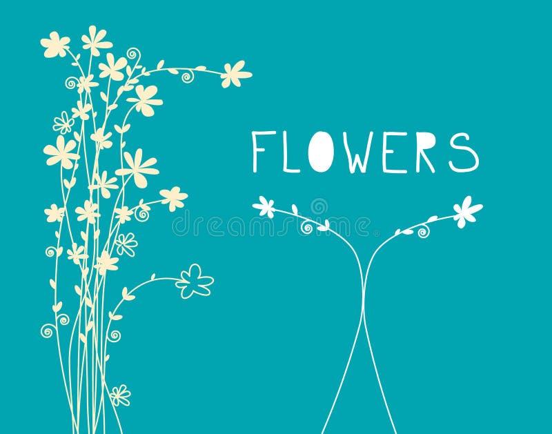 As flores modelam - o fundo floral do projeto liso ilustração stock