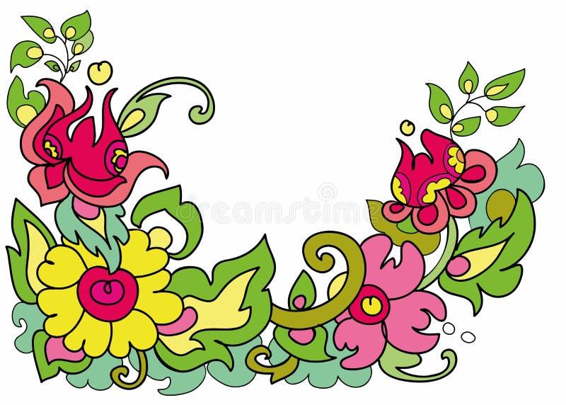 As flores ornament em um fundo branco imagem de stock royalty free