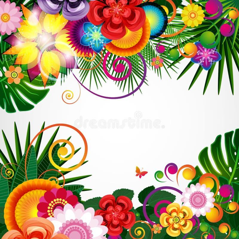 As flores saltam fundo do projeto, teste padrão floral, vetor ilustração do vetor