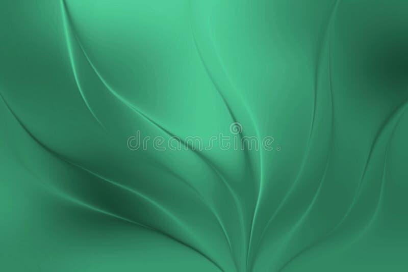 As folhas abstraem a ilustração borrada do papel de parede do verde do fundo ilustração stock