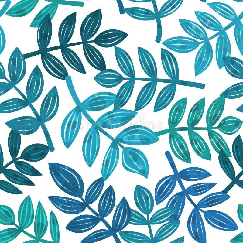 As folhas de plantas tropicais, vector o teste padrão sem emenda ilustração stock