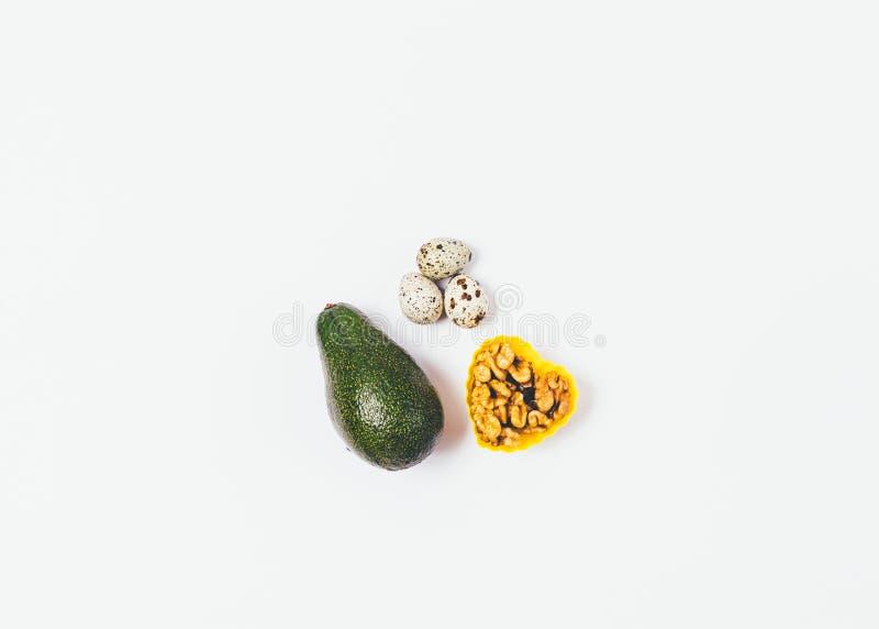 As fontes de gorduras saudáveis colocam horizontalmente imagens de stock royalty free