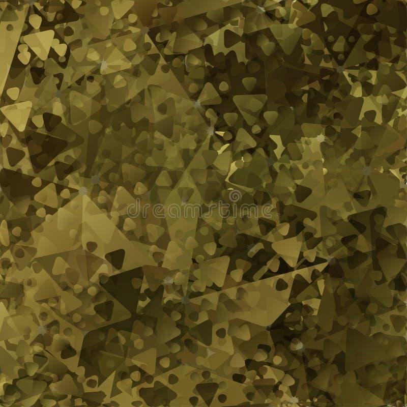 As forças armadas abstratas camuflam o fundo ilustração stock
