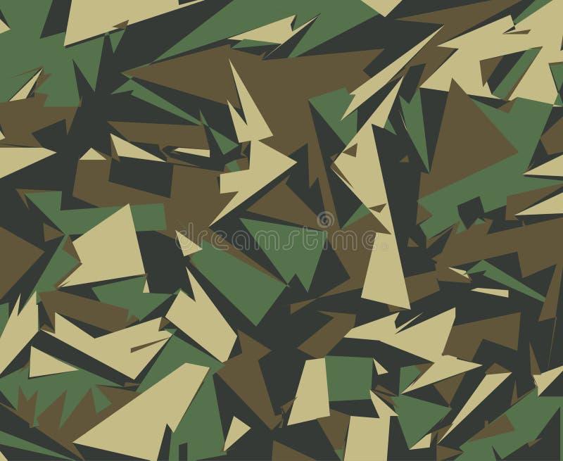 As forças armadas abstratas camuflam o fundo ilustração do vetor