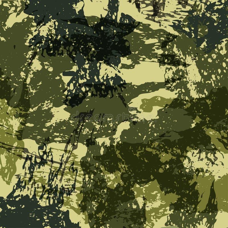 As forças armadas abstratas camuflam o fundo feito do respingo Teste padrão de Camo para a roupa do exército Vetor ilustração royalty free